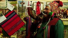 Shaman: Traditional ceremony in PERU, South America Stock Footage