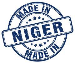 Made in Niger blue grunge round stamp Stock Illustration