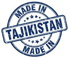 Made in Tajikistan blue grunge round stamp Stock Illustration
