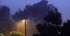 Several storm. Night. Rain. With Sound. Lightning Stock Footage