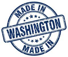 Made in Washington blue grunge round stamp Stock Illustration