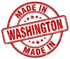 Made in Washington red grunge round stamp Stock Illustration