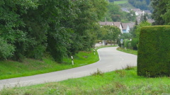 Road of Eisingen village Stock Footage