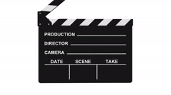 Film Slate Isolated On White - stock footage