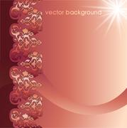 decorative cover template - stock illustration