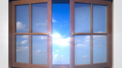 Opening Windows to the Clouds Stock Footage