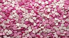 Heart Candy Falling to The Ground, 3d Animation 4k - stock footage