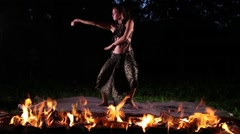 Beautiful dancing girl Stock Footage