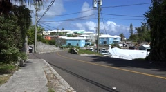 Bermuda countryside road. - stock footage