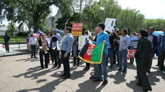 Hazaras Afghan Minority Protest at White House 6 Stock Footage
