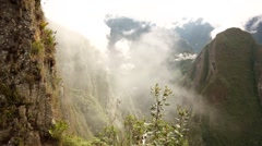 Machu Picchu: View to the landscape Stock Footage