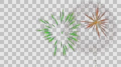 Fireworks alpha transparence background loop Stock Footage