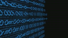 Hacking computer system conception motion graphic - stock footage
