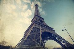 Eiffel tower - vintage photo Stock Photos