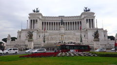 National Monument to Victor Emmanuel II Rome Stock Footage