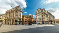 Urban scene timelapse hyperlapsein Rome Italy - stock footage