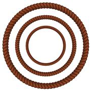 Brown rope in three sizes Stock Illustration