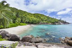 Anse Major in the west of Mahe, Seychelles - stock photo