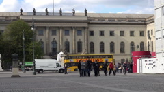 Berlin, Humboldt University, main building, Unter der Linden, Berlin Mitte. Stock Footage