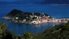 Sestri Levante is a known tourist destination located  in Liguria, Italy. Stock Footage