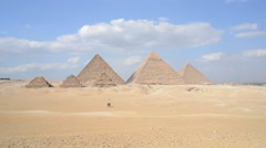 Giza Pyramid in Egypt - stock footage