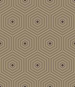 Seamless Abstract Vector Pattern With Hexagons Stock Illustration