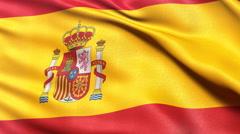 Spain flag seamless loop Stock Footage