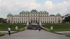 Belvedere Vienna Austria Video Footage Stock Footage
