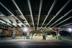 Graffiti on an underpass in Corktown, Toronto, Ontario. Stock Photos