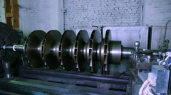 Rotor for compressor turbine on repair Stock Footage