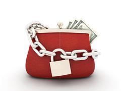Purse with dollars Stock Illustration