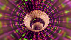 Abstract technology tunnel of streaming data - Tunnel Vision 113 HD, 4K Stock Footage