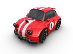 Racing retro car. Stock Illustration