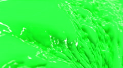 Commercial Paint - Seamless Loop. Green Stock Footage