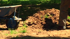 Man digging 04 Stock Footage