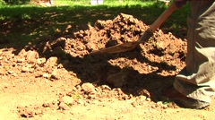 Man digging 08 Stock Footage