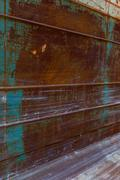 metal container and abstract texture - stock photo