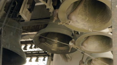 Church bells ring out from the belfry Arkistovideo
