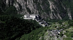 The fortified complex of Bard, located in the Aosta Valley - stock footage