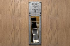 Vintage Photo Booth Pickup Slot Stock Illustration