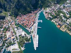 Aerial view of Kotor - stock photo