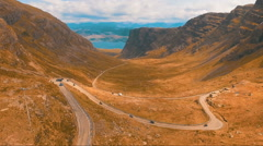 Winding road in the mountains Stock Footage