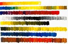 Training drawing of line color gradients Stock Photos