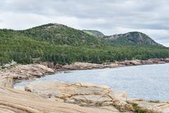 Three mountains in Acadia National Park - stock photo