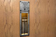 Vintage Photo Booth Pickup Slot - stock illustration