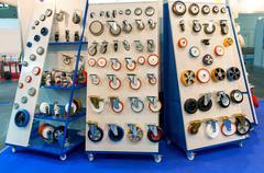 Wheels on the showcase - stock photo