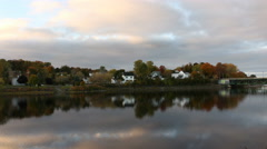 Riverside Scene Fall Colors- Timelapse of East River in New Glasgow Nova Scotia Stock Footage