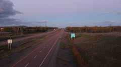 Highway sunset timelapse- Fall Colors- Highway 104 Antigonish, Nova Scotia. Stock Footage
