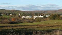 Fall colors small town North America timelapse- Antigonish, Nova Scotia. - stock footage