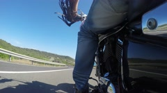 riding under a blue sky - stock footage